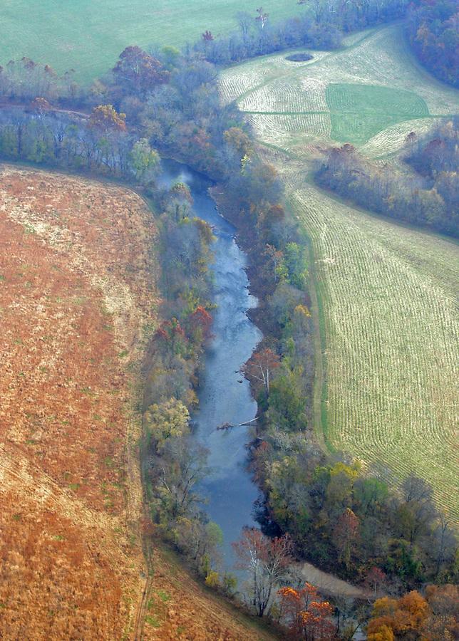 rivanna river, aerial