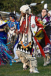 "Intertribal Dancing a celebration of ethnic Native American pride and herotage  at Thunderbird Pow Wow ....A pow-wow (also powwow or pow wow or pau wau) is a gathering of North America's Native people. The word derives from the Narragansett word powwaw, meaning ""spiritual leader""."