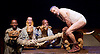 Ubu and the Truth Commission by Handspring, Jane Taylor and William Kentridge<br /> at the Coronet Print Room, Notting Hill Gate <br /> press photocall <br /> 16th October 2015 <br /> <br /> <br /> David Minnaar as Pa Ubu <br /> <br /> <br /> Photograph by Elliott Franks <br /> Image licensed to Elliott Franks Photography Services