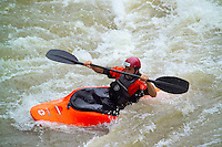 LIVINGSTONE, VICTORIA FALLS, ZAMBIA, DECEMBER 2004. Rafting on the Zambezi river is a class five adrenaline adventure. Victoria falls on the border between Zambia and Zimbabwe is the outdoor adventure capital of Africa. Photo by Frits Meyst/Adventure4ever.com