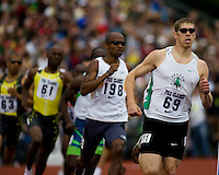 EUGENE, OR--From right, Matt Scherer and Jebrah Harris race in the men's 800m at the Steve Prefontaine Classic, Hayward Field, Eugene, OR. SUNDAY, JUNE 10, 2007. PHOTO © 2007 DON FERIA