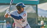 1 September 2014: Tri-City ValleyCats outfielder Jose Solano at bat against the Vermont Lake Monsters at Centennial Field in Burlington, Vermont. The ValleyCats defeated the Lake Monsters 3-2 in NY Penn League action. Mandatory Credit: Ed Wolfstein Photo *** RAW Image File Available ****