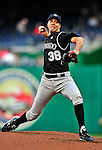 22 April 2010: Colorado Rockies' starting pitcher Ubaldo Jimenez on the mound during a game against the Washington Nationals at Nationals Park in Washington, DC. The Rockies shut out the Nationals 2-0 gaining a 2-2 series split. Mandatory Credit: Ed Wolfstein Photo
