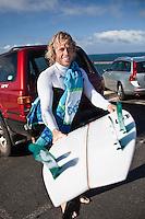ADAM ROBERTSON (AUS)  witha quad fin surfboard at Bells Beach, Torquay Victoria, Australia (Tuesday, April 14 2009)  Photo: joliphotos.com