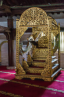 Yogyakarta, Java, Indonesia.  The Minbar, from which the imam gives the Friday Sermon.  Great Mosque, Masjid Gedhe Kauman, mid-18th. Century.