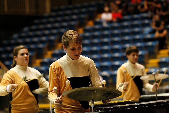Percussion and Color Guard units compete at the Louisiana Colorguard and Percussion Circuit Championships at the Thibodaux Civic Center on March 31, 2012..photo by Crystal LoGiudice