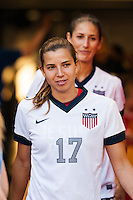 United States (USA) midfielder Tobin Heath (17). The women's national team of the United States defeated the Korea Republic 5-0 during an international friendly at Red Bull Arena in Harrison, NJ, on June 20, 2013.