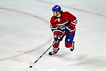 4 December 2008: Montreal Canadiens' center Robert Lang from the Czech Republic in action against the New York Rangers at the Bell Centre in Montreal, Quebec, Canada. The Canadiens, celebrating their 100th season, played in the circa 1915-1916 uniforms for the evenings' Original Six matchup. The Canadiens defeated the Rangers 6-2. *****Editorial Use Only*****..Mandatory Photo Credit: Ed Wolfstein Photo