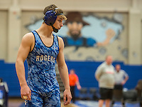 NWA Democrat-Gazette/ANTHONY REYES @NWATONYR<br /> Jake Turner, Rogers sophomore, before a match against Bailey Fry of Fort Smith Southside, Tuesday, Jan. 24, 2017 at King Arena in Rogers. Turner was the 6A-7A state runner-up at 126 last year as a freshman. Turner now competes at 138.