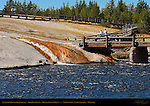 Excelsior Geyser Boardwalk, Firehole River, Midway Geyser Basin, Yellowstone National Park, Wyoming
