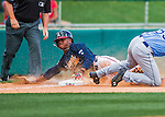 14 March 2016: Atlanta Braves outfielder Mallex Smith, ranked the Number 11 Top Prospect in the Braves organization for 2016 by MLB and Number 10 by Baseball America, slides into third during a Spring Training pre-season game against the Tampa Bay Rays at Champion Stadium in the ESPN Wide World of Sports Complex in Kissimmee, Florida. The Braves shut out the Rays 5-0 in Grapefruit League play. Mandatory Credit: Ed Wolfstein Photo *** RAW (NEF) Image File Available ***