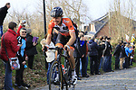 Taco Van Der Hoorn (NED) Roomport-Nederlandse Loterij climbs Oude Kwaremont during the 60th edition of the Record Bank E3 Harelbeke 2017, Flanders, Belgium. 24th March 2017.<br /> Picture: Eoin Clarke   Cyclefile<br /> <br /> <br /> All photos usage must carry mandatory copyright credit (&copy; Cyclefile   Eoin Clarke)