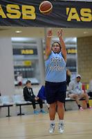 Action from the Basketball Girls Premier - Sharp Cup at ASB Sports Centre, Kilbirnie, Wellington, New Zealand on Friday 30 May 2014. <br /> Photo by Masanori Udagawa. <br /> www.photowellington.photoshelter.com.