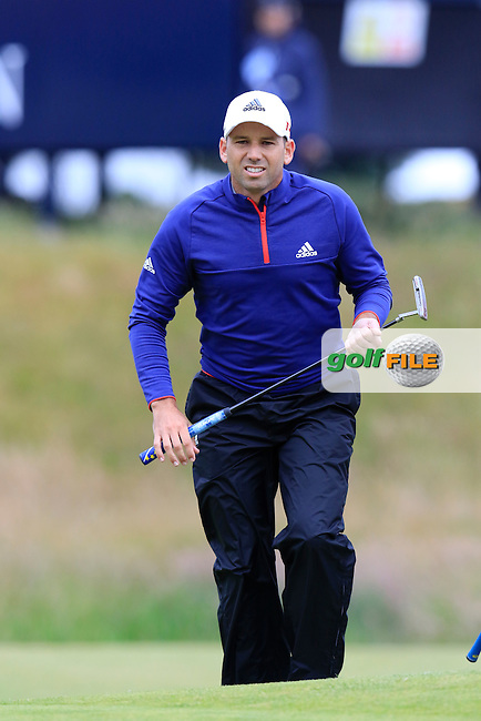 Sergio Garcia (ESP) on the 17th green during Monday's Final Round of the 144th Open Championship, St Andrews Old Course, St Andrews, Fife, Scotland. 20/07/2015.<br /> Picture Eoin Clarke, www.golffile.ie
