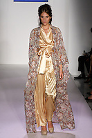 Model walks runway in an outfit Telina Webb for her KabukiU Spring 2012 fashion show, at Nolcha Fashion Week Spring 2012.
