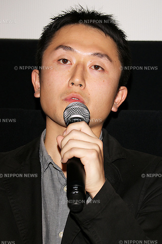 """Takashi Nishihara, October 28 2014 :  Tokyo, Japan : Director Takashi Nishihara speaks to the audience during the stage greeting of the movie """"Starting Over"""" at TOHO CINEMAS in Roppongi on October 28, 2014, Tokyo, Japan, as part of the Tokyo International Film Festival. The 27th Tokyo International Film Festival is one of the biggest film festivals in Asia and runs from October 23 to 31. (Photo by Rodrigo Reyes Marin/AFLO)"""