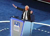 PHILADELPHIA, PA - JULY 25: Bernie Sanders at The  2016 Democratic National Convention at The Wells Fargo Center in Philadelphia, Pennsylvania on July 25, 2016. Credit: Star Shooter/MediaPunch