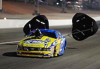 Oct. 27, 2012; Las Vegas, NV, USA: NHRA pro mod driver Mike Janis during qualifying for the Big O Tires Nationals at The Strip in Las Vegas. Mandatory Credit: Mark J. Rebilas-