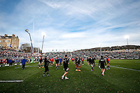 A general view of the pre-match warm-up. European Rugby Champions Cup match, between Bath Rugby and Leinster Rugby on November 21, 2015 at the Recreation Ground in Bath, England. Photo by: Rogan Thomson / JMP for Onside Images