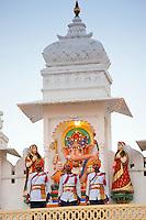 Ceremonial military band of 76th Maharana Shriji Arvind Singh Mewar of Udaipur, at the City Palace, Rajasthan, India