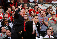 Ohio State head coach Thad Matta, left, during the second half in a loss to Penn State at Value City Arena in Columbus, Ohio Jan. 29, 2013. (Dispatch photo by Eric Albrecht)