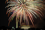 Fireworks light up DC on July 4, 2009.