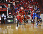 Ole Miss guard Trevor Gaskins (23)  heads upcourt at the C.M. &quot;Tad&quot; Smith Coliseum in Oxford, Miss. on Tuesday, February 1, 2011. Ole Miss won 71-69.