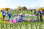 Lispole players and management celebrate after defeating Tousist in the Novice Championship final in Listry on Sunday
