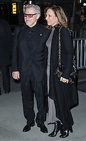 """NEW YORK CITY, NY, USA - FEBRUARY 26: Harvey Keitel, Daphna Kastner at the New York Premiere of Fox Searchlight Pictures' """"The Grand Budapest Hotel"""" held at Alice Tully Hall on February 26, 2014 in New York City, New York, United States. (Photo by Jeffery Duran/Celebrity Monitor)"""
