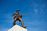 Statue of Soldier on war memorial, Victoria, British Columbia, Canada