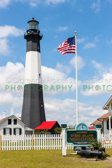 The Tybee Island Light Station on Tybee Island near Savannah, Georgia.