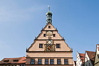 City center, Rothenburg ob der Tauber, Franconia, Bavaria, Germany