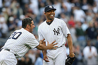 09/19/11 Bronx, NY: New York Yankee reliver Mariano Rivera #42 records his 43rd save of the season and 602nd of his career, passing Trevor Hoffman to become the all-time saves leader. The Yankees defeated the Twins 6-4.