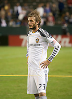 CARSON, CA – NOVEMBER 14: LA Galaxy midfielder David Beckham (23) looks on after  the Western Conference Final soccer match at the Home Depot Center, November 14, 2010 in Carson, California. Final score LA Galaxy 0, Dallas FC 3.