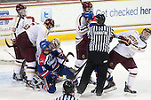 Danny Linell (BC - 10), Steven Santini (BC - 6), Ryan McGrath (UML - 10), Brendan Silk (BC - 9), Michael Colantone (UML - 24), Michael Sit (BC - 18) - The Boston College Eagles defeated the visiting University of Massachusetts Lowell River Hawks 3-0 on Friday, February 21, 2014, at Kelley Rink in Conte Forum in Chestnut Hill, Massachusetts.
