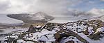 Blue Glacier, Joyce Glacier, Peve Peak in the Garwood Valley. Royal Society Range.  Dry Valleys. Antarctica.