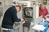 Student gas fitters, Able Skills, Dartford, Kent.