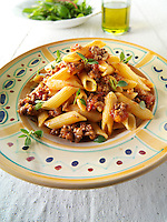 Spaghetti Bolognese - minced beef in a tomato sauce with pasta