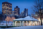 The Frog Pond skating rink in Boston Common, Boston, MA, USA