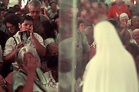 Brazil - procession in Latin America featuring the Virgin Mary. Religion, Catholicism, faith, religious fervour, religious fervor...