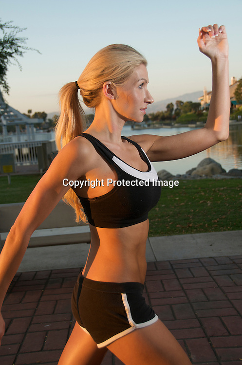 Woman Jogging and Training