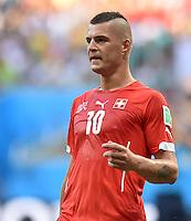 FUSSBALL WM 2014  VORRUNDE    GRUPPE E     Schweiz - Frankreich                   20.06.2014 Granit Xhaka (Schweiz)ist enttaeuscht