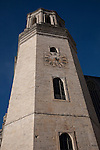 Clock Tower of Girona Cathedral Church in Catalonia, Spain