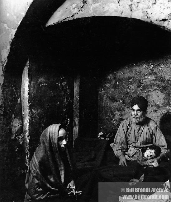 Sikh sheltering in underground WW2, 1940