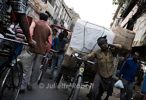 In the streets in Old Delhi, India