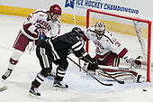 Wiley Sherman (Harvard - 25), Niko Rufo (PC - 11), Merrick Madsen (Harvard - 31) - The Harvard University Crimson defeated the Providence College Friars 3-0 in their NCAA East regional semi-final on Friday, March 24, 2017, at Dunkin' Donuts Center in Providence, Rhode Island.