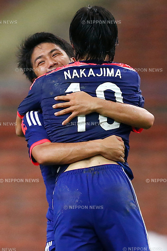 Shoya Nakajima, Shinya Yajima (JPN), MARCH 29, 2015 - Football / Soccer : AFC U-23 Championship 2016 Qualification Group I match between U-22 Japan 2-0 U-22 Vietnam at Shah Alam Stadium in Shah Alam, Malaysia. (Photo by Sho Tamura/AFLO SPORT)