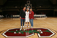 8 January 2007: Stanford Cardinal Markisha Coleman and her locker sponsors during Stanford's 69-54 win against the South Carolina Gamecocks at Maples Pavilion in Stanford, CA.