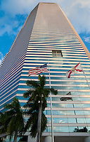 Miami Tower with flags, Florida