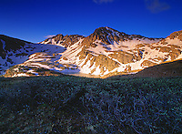 Cathedral Peak at sunrise in early spring. Located near Aspen, Colorado.